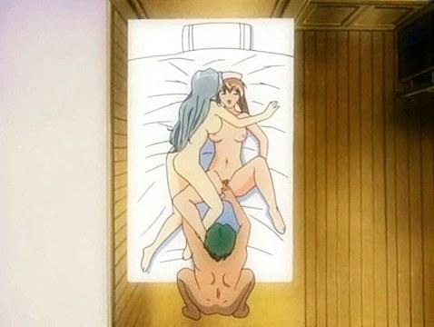 Hentai nun participates in threesome