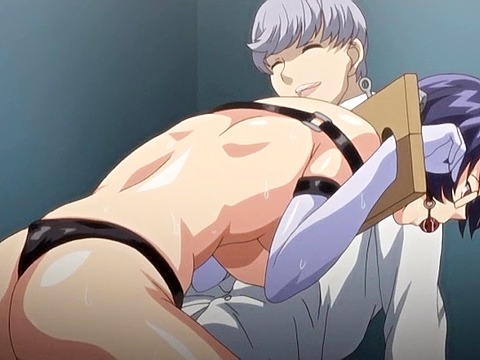 Hentai cumshot of two rods for the slave