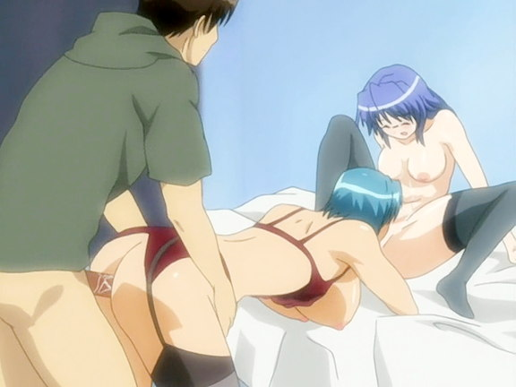 Horny anime sluts in hot threesome
