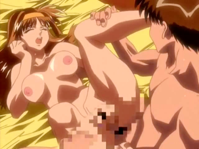 Lusty hentai couple liking each other