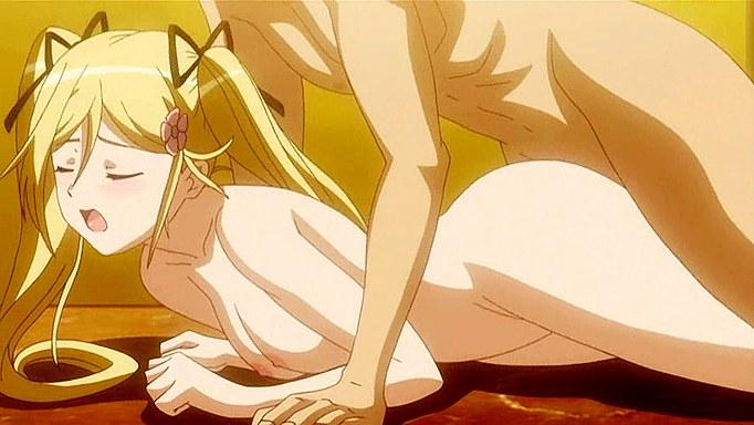 Hot blondy anime woman in bathroom fuck