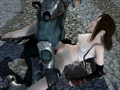 Final Fantasy hentai threesome film