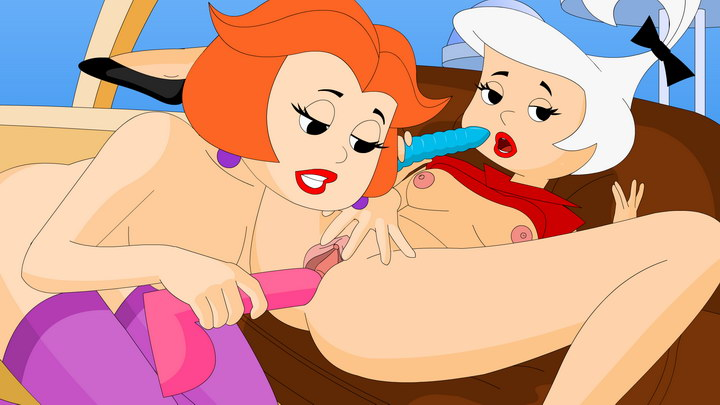 Some mind-blowing lesbian fucking from The Jetsons