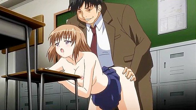 Teacher rides charming anime student