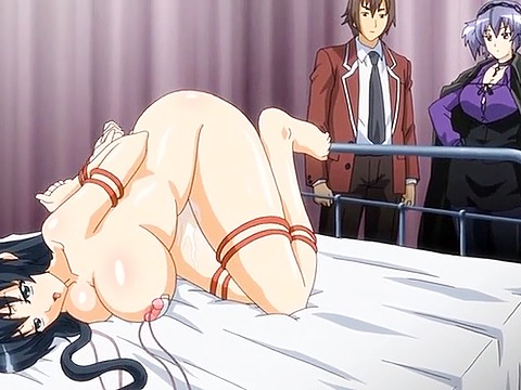 Hentai fetish with tied woman hammered