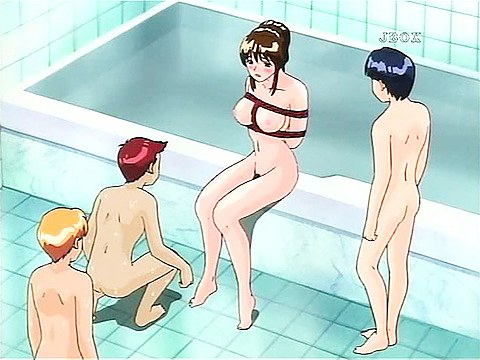 Horny hentai sex in bathroom
