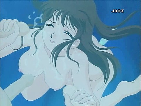 naughty hentai chick sucking dicks underwater
