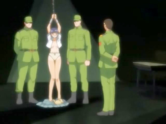 Hentai broad got imprisoned by soldiers