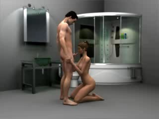 Bathroom oral sex